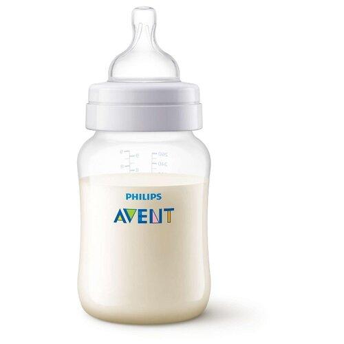 цена на Philips AVENT Бутылочка полипропиленовая Anti-colic SCF813/17, 260 мл с 1 мес., бесцветный
