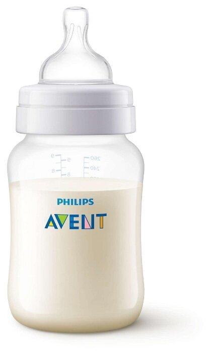 Philips AVENT Бутылочка полипропиленовая Anti-colic SCF813/17, 260 мл с 1 мес.
