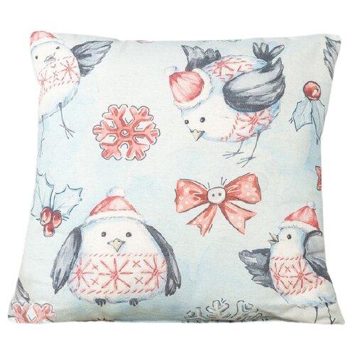 Фото - Подушка декоративная Традиция Птенцы, 40 x 40 см голубой/красный подушка декоративная традиция пингвины 50 х 50 см зеленый