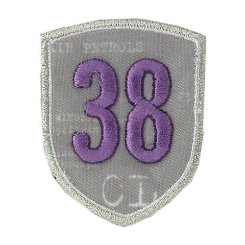 Купить Термоаппликации HKM 38, фиолетовый, 1 шт 6 х 4, 5 см, HKM Textil, Декоративные элементы