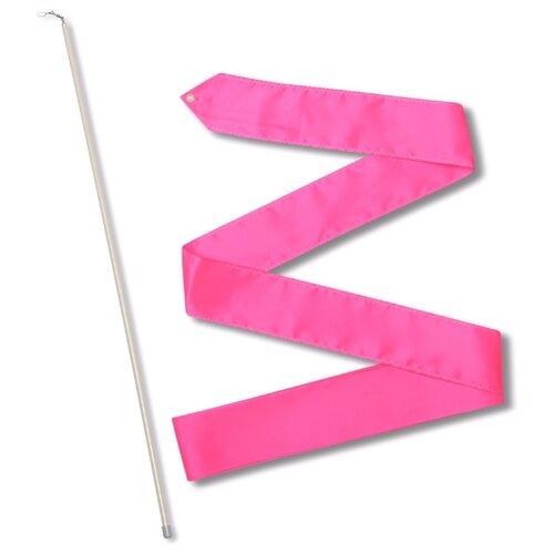 Палочка с лентой для художественной гимнастики Indigo СЕ6 фуксия
