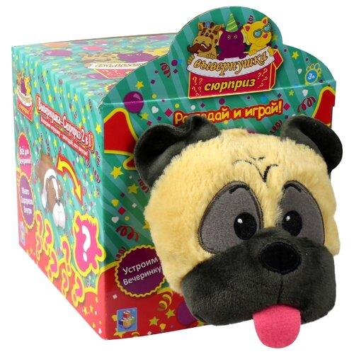 Мягкая игрушка 1 TOY Вывернушка-Сюрприз Мопс 23 см мягкая игрушка мопс в одежде микс цветов 11 7 см