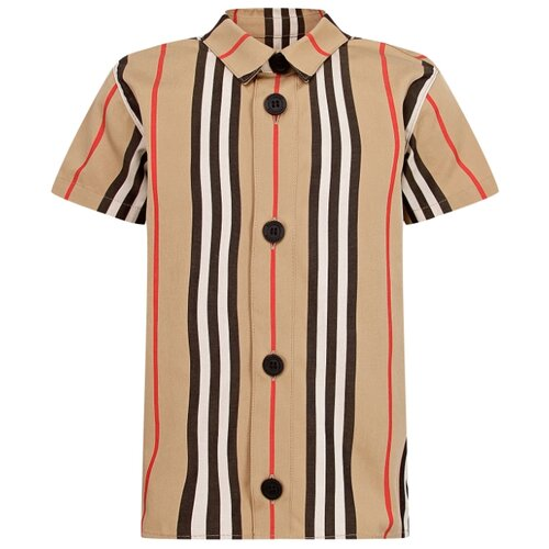 цена Рубашка Burberry размер 68, бежевый онлайн в 2017 году