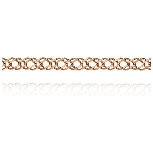 АДАМАС Цепь из золота плетения Ромб свободный двойной ЦРС240А2-А51, 55 см, 4.73 г