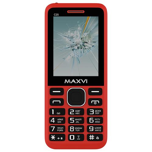 Фото - Телефон MAXVI C25 красный телефон maxvi x650 красный