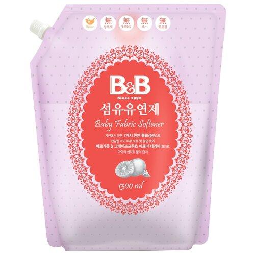 Кондиционер для стирки детского белья с ароматом бергамота и грейпфрута B&B 1.3 л пакет