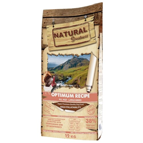 Корм для собак NATURAL Greatness (12 кг) Optimum Recipe Large greatness