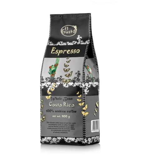 Кофе в зернах El Gusto Dark Espresso, арабика, 900 г термокружка el gusto grano 113b blue 470 мл