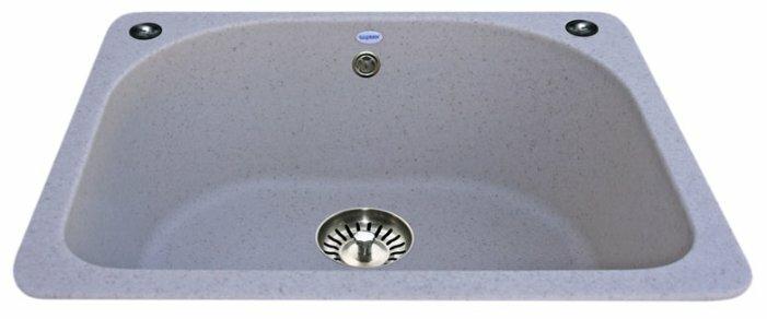 Врезная кухонная мойка Ulgran U-408 60х52см искусственный мрамор