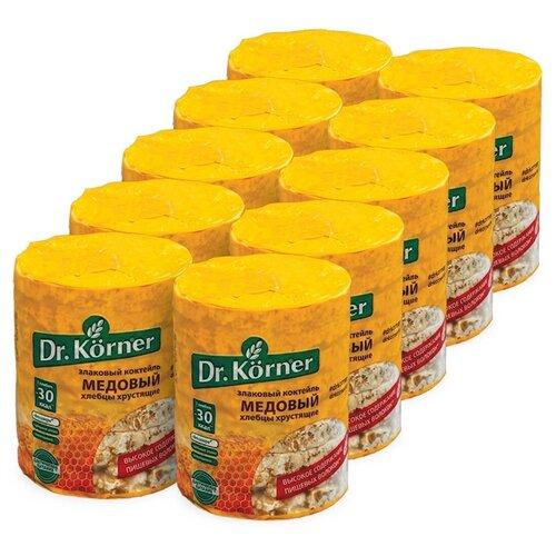 Фото - Dr. Korner Медовый злаковый коктейль хлебцы, 10 шт по 100г хлебцы многозерновые dr korner злаковый коктейль яблоко и корица 90 г