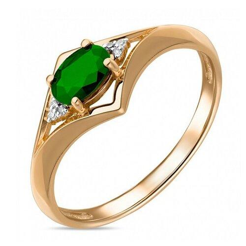 Бронницкий Ювелир Кольцо из красного золота R01-D-33766-EM, размер 16.5 кольцо из золота r01 d 68997r001 r