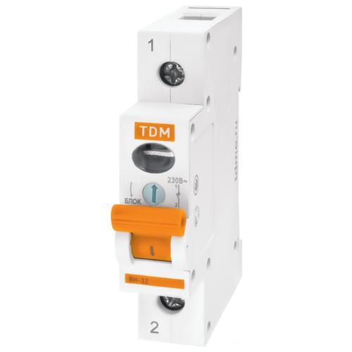 Рубильник TDM ЕLECTRIC ВН-32 1P 32 А рубильник tdm еlectric вн 32 2p 40 а