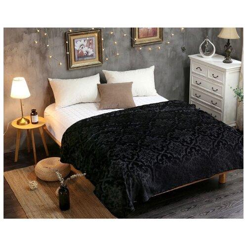 Плед Cleo Moreska 150х200 см, черный костюм домашний cleo cleo mp002xw1h0vu