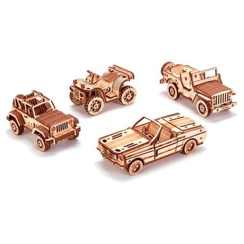 Сборная модель Wood Trick Набор мини-машинок (1234-25), Сборные модели  - купить со скидкой