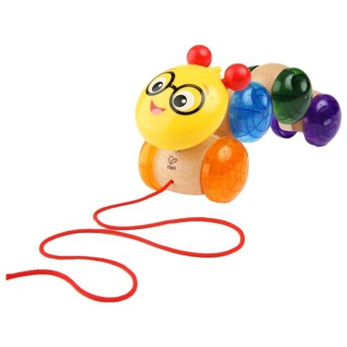 Купить Каталка-игрушка Hape Inch Along Cal (11655) бежевый/желтый/зеленый/синий, Каталки и качалки