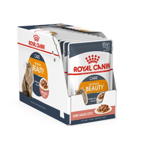 Корм для кошек Royal Canin Intense Beauty для профилактики МКБ, мясное ассорти, рыбное ассорти 24шт. х 85 г (кусочки в соусе) cat wet food royal canin kitten sterilized kitches for kittens pieces in sauce 24 85 g