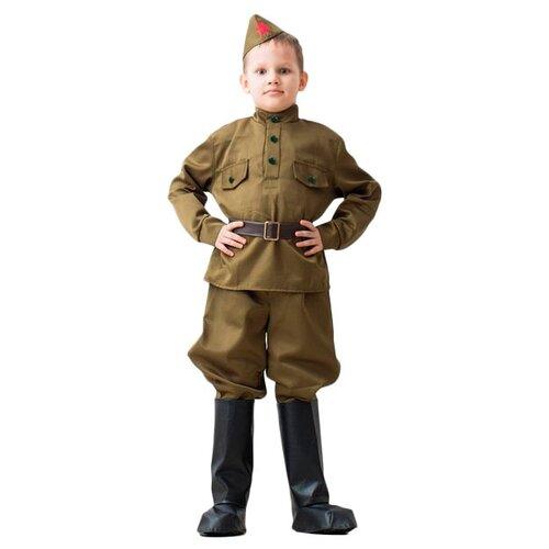 Купить Костюм Бока Военная форма Солдат в галифе, хаки, размер 104-116, Карнавальные костюмы