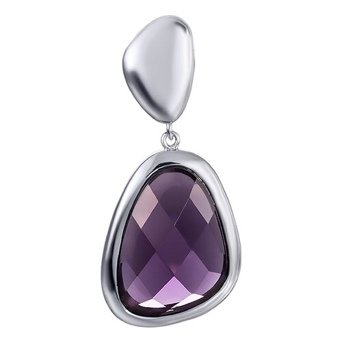 JV Подвеска с ювелирным стеклом из серебра SP0441-US-002-WG jv кольцо с ювелирным стеклом из серебра b3198 us 011 wg размер 17 5