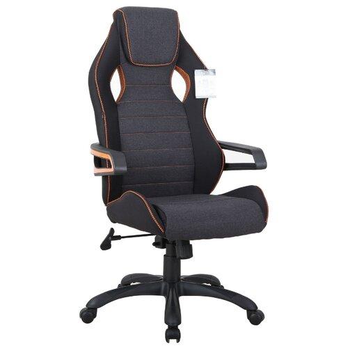 Компьютерное кресло Brabix Techno Pro GM-003 игровое, обивка: текстиль, цвет: серый/черный компьютерное кресло brabix nitro gm 001 игровое обивка искусственная кожа цвет черный