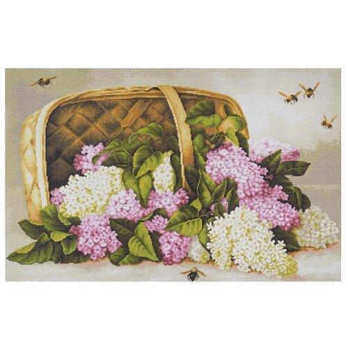 Купить Luca-S Набор для вышивания Сирень в корзине, 35 х 23 см, G501, Наборы для вышивания