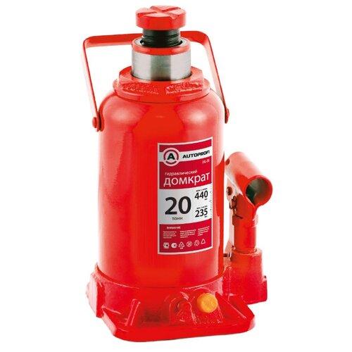 Домкрат бутылочный гидравлический AUTOPROFI DG-20 (20 т) красный
