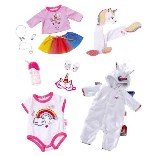 Фото - Zapf Creation Комплект одежды и аксессуаров Сказочный Единорог для куклы Baby Born 826201 белый/розовый набор аксессуаров zapf creation