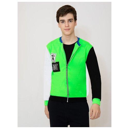 Купить Олимпийка Nota Bene размер 134, Зеленый неон, Толстовки