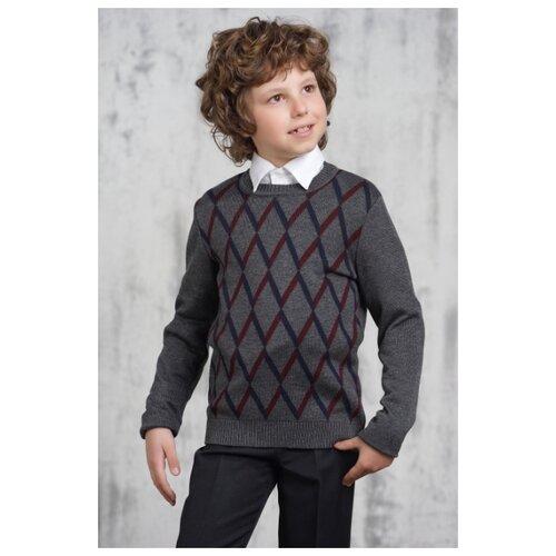 Джемпер VAY размер 152, серый/синий/бордо