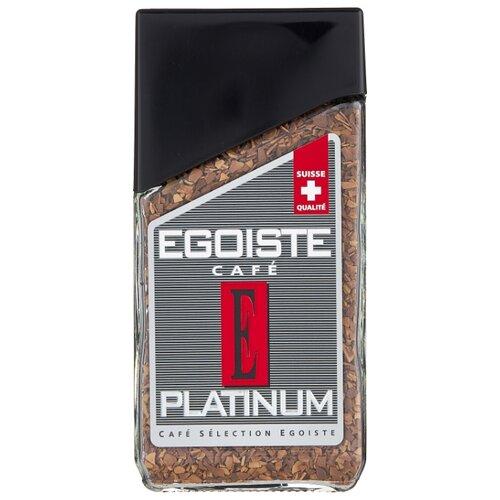 Кофе растворимый Egoiste Platinum сублимированный, стеклянная банка, 100 г кофе растворимый egoiste noir пакет 70 г