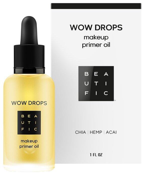 BEAUTIFIC масло-праймер под макияж Wow Drops Makeup Primer Oil с маслами чиа, конопли и асаи 30 мл