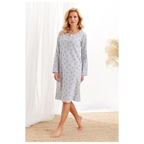 Фото - Женская хлопковая сорочка Lucja, серый, размер L сорочка taro размер l серый