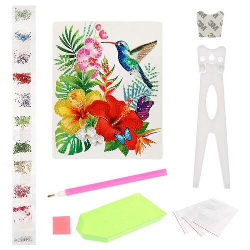 Купить Color Puppy Набор алмазной вышивки Тропические цветы (70020) 17х21 см, Алмазная вышивка