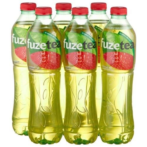 Чай fuzetea зеленый Клубника и Малина, ПЭТ, 1.5 л, 6 шт.