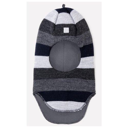 Купить Шапка-шлем crockid размер 50-52, темно-синий/серый, Головные уборы