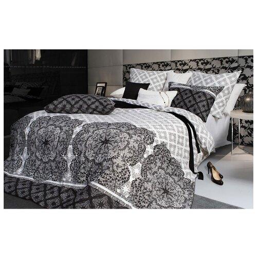 Постельное белье 2-спальное Sova & Javoronok Кружево сновидений 50х70 см, сатин белый/черный