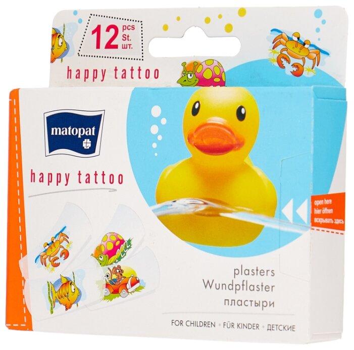 Matopat Happy Tattoo пластырь защитный, 12 шт.