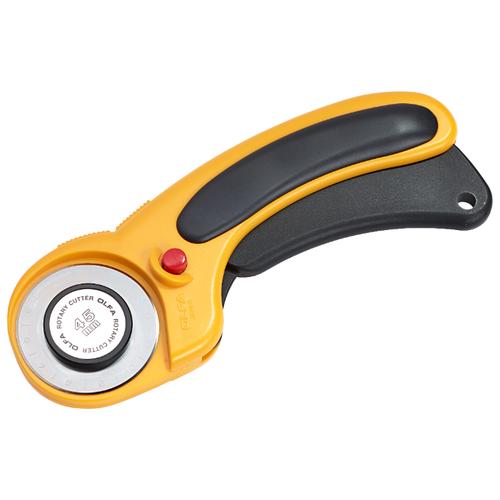 Купить Prym Раскройный нож Comfort 611393 с фиксатором лезвия, 45 мм желтый/черный, Инструменты и аксессуары