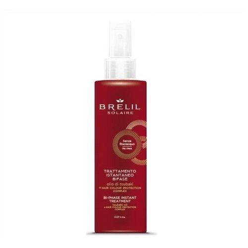 Фото - Brelil Professional Solaire Двухфазный восстанавливающий спрей для волос Bi-Phase Instant Treatment, 150 мл спрей для волос восстанавливающий mugens zen care ss treatment 500мл