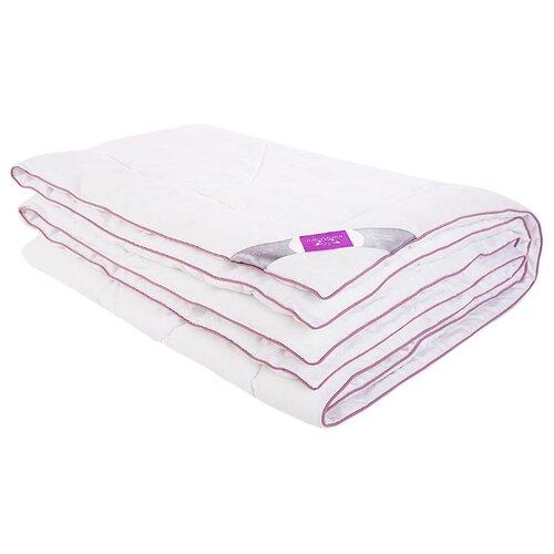 цена на Одеяло Kupu-Kupu Лаванда Standart, всесезонное, 172 х 205 см (белый с сиреневым кантом)