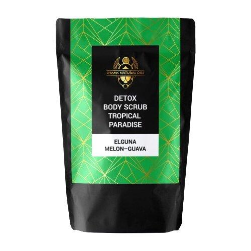 Фото - Shams Natural oils Скраб для тела Detox Эльгуна Дыня - Гуава, 50 г косметика для мамы bielenda exotic paradise сахарный скраб для тела увлажняющий дыня 350 г