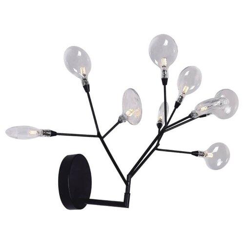 цена Настенный светильник Crystal Lux Evita AP9 Black/Transparent, 13.5 Вт онлайн в 2017 году