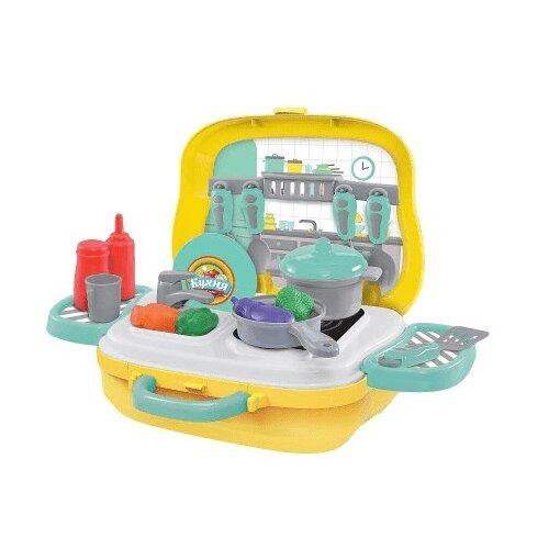 Купить Игровой набор ABtoys Чудо-чемоданчик PT-01271 серый/желтый/зеленый/красный/голубой/оранжевый, Детские кухни и бытовая техника