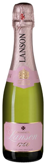 Шампанское Lanson Rose Label Brut Rose, 0.375л