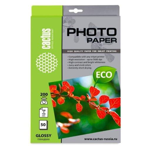 Фото - Бумага A6 50 шт. cactus CS-GA620050E белый 1 шт. трусы serge 56877 белый 50 размер