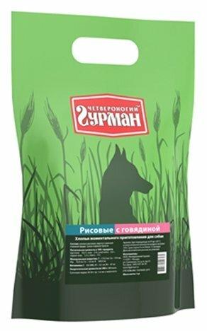 Корм для собак Четвероногий Гурман Рисовые хлопья говядина