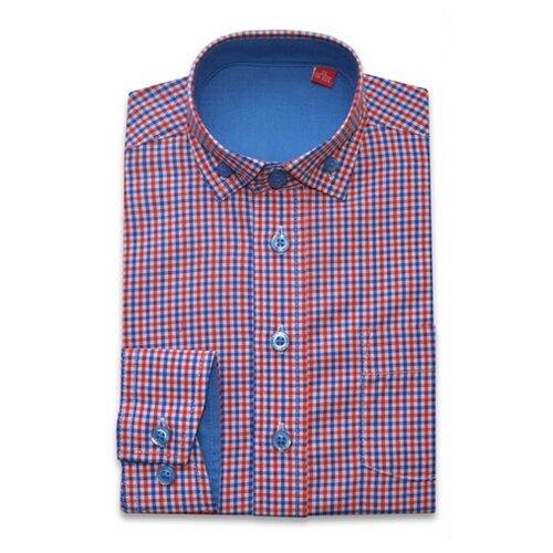 Купить Рубашка Imperator размер 26/92-98, красный/синий, Футболки и рубашки