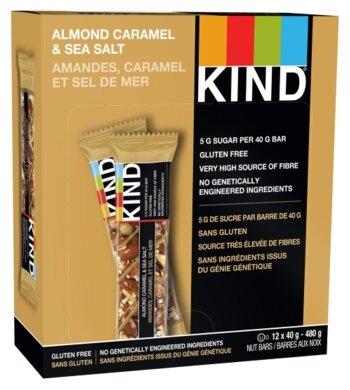 Ореховый батончик Be-Kind Caramel Almond & Sea Salt, 12 шт