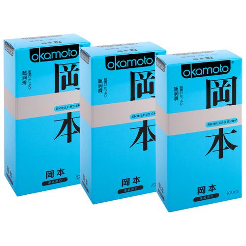 Презервативы Okamoto Skinless Skin Super Lubricated (3 уп. по 10 шт.) трубка energoflex super protect k 18 4 11 308 м уп