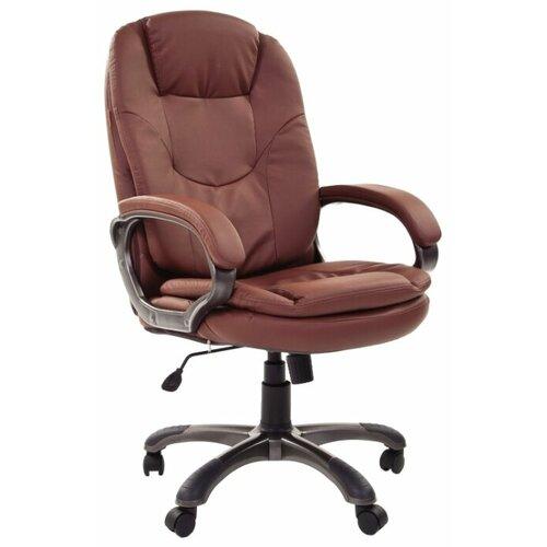 Компьютерное кресло Chairman 668 для руководителя, обивка: искусственная кожа, цвет: коричневый по цене 11 770
