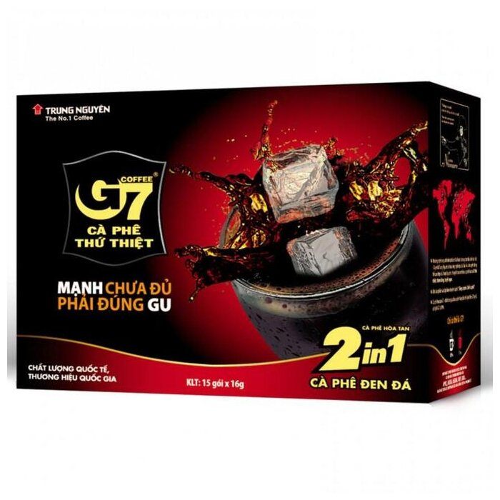 Растворимый кофе Trung Nguyen G7 2 в 1, в пакетиках — купить по выгодной цене на Яндекс.Маркете